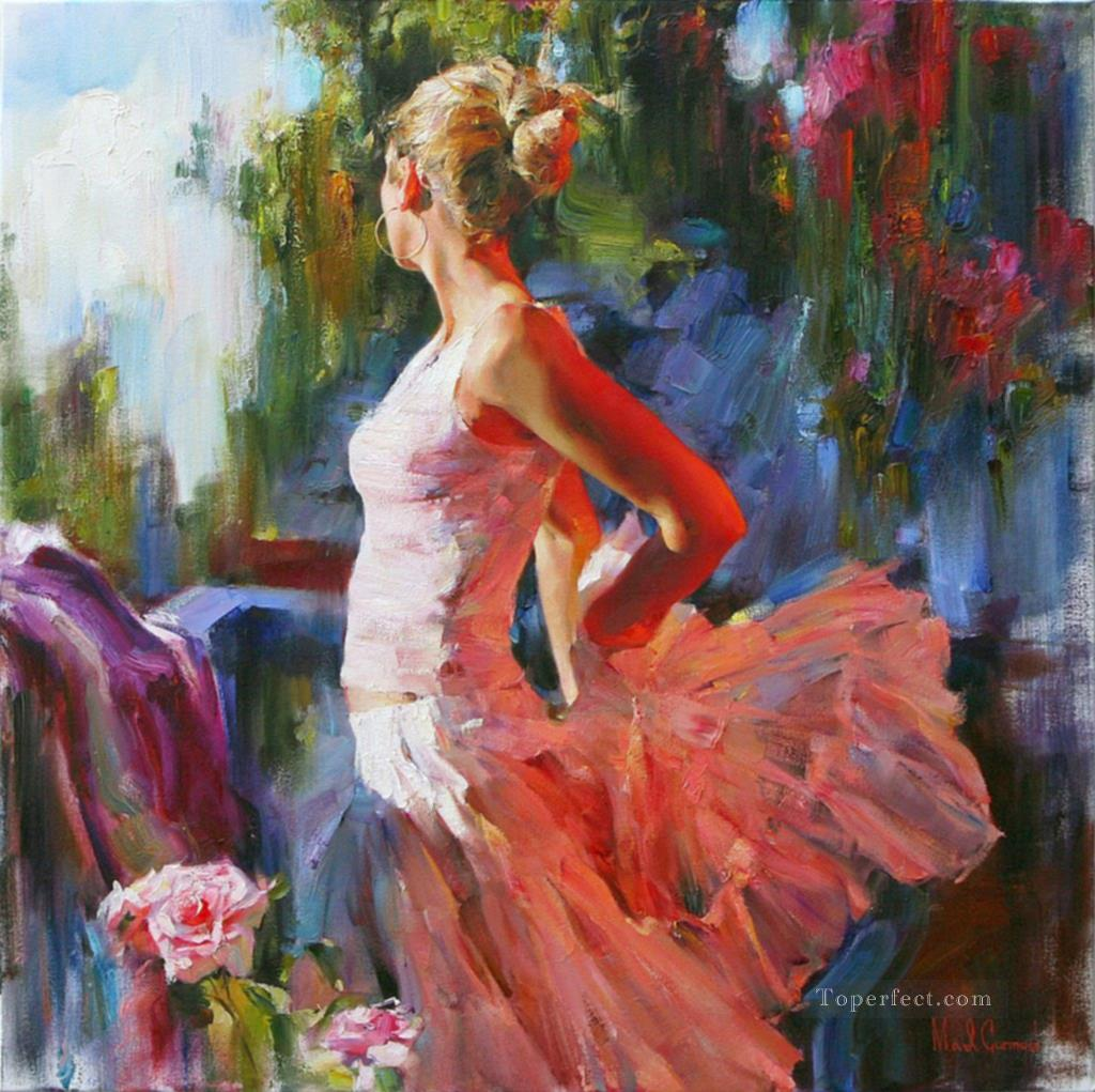 Pretty Girl MIG 53 Impressionist Oil Paintings