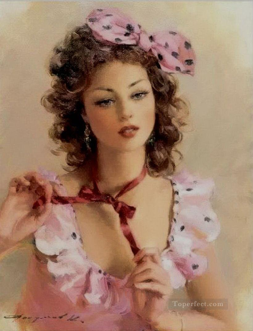 Pretty Lady KR 006 Impressionist Oil Paintings