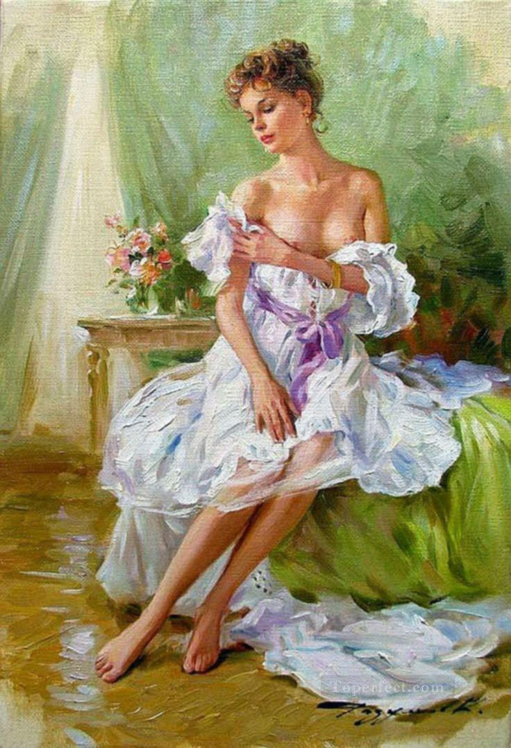 Pretty Lady KR 028 Impressionist Oil Paintings
