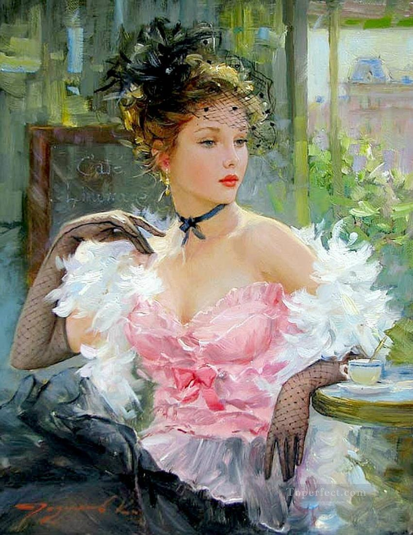 Pretty Lady KR 038 Impressionist Oil Paintings