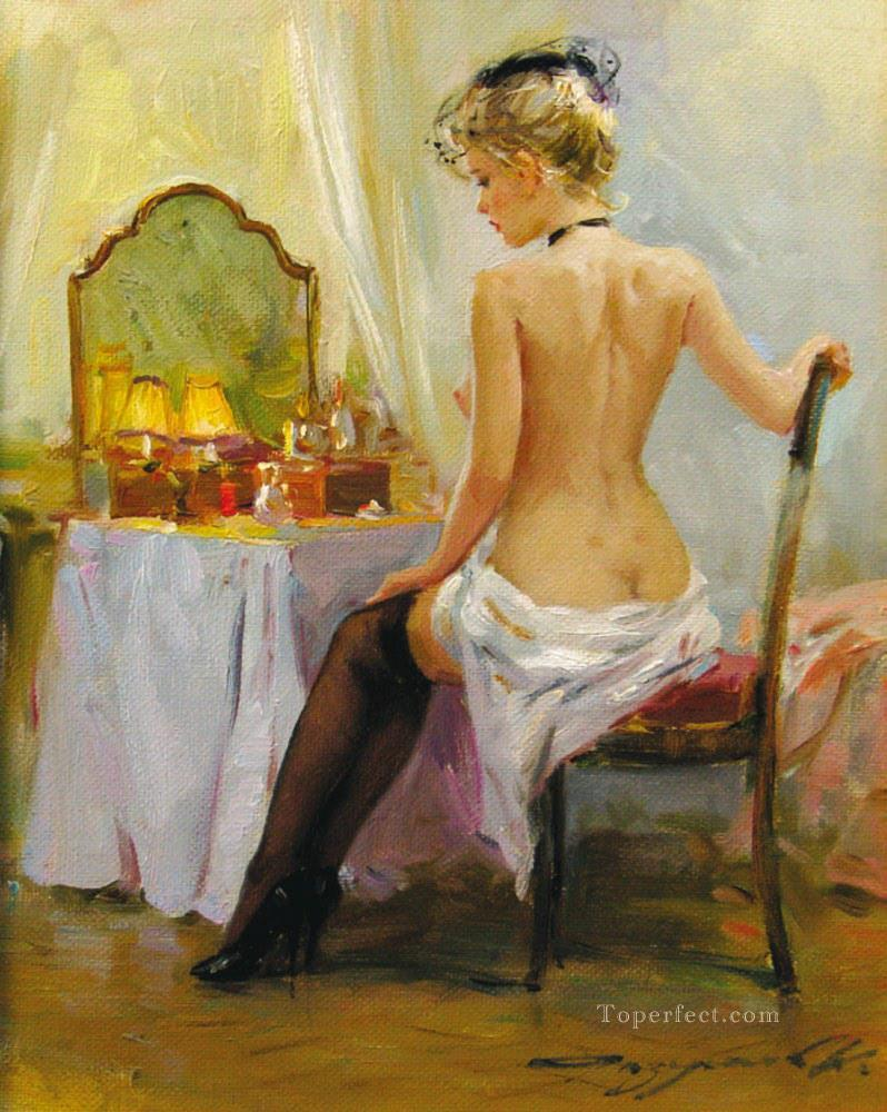 Pretty Woman KR 001 Impressionist Oil Paintings