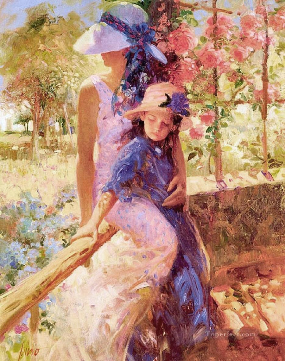 Summer Afternoon PD Woman Impressionist Oil Paintings