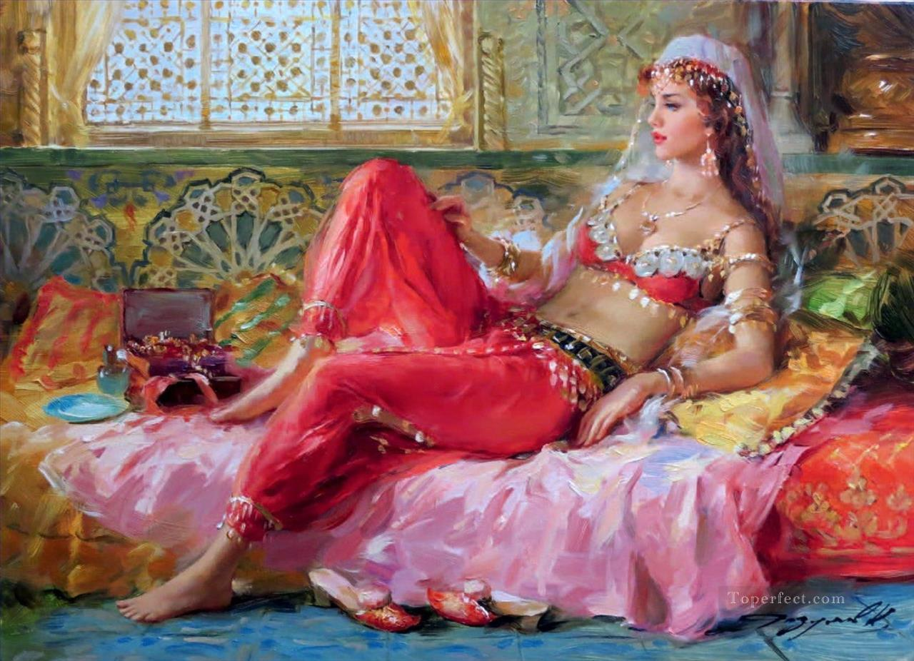 Lodalisque en rouge Impressionist Oil Paintings