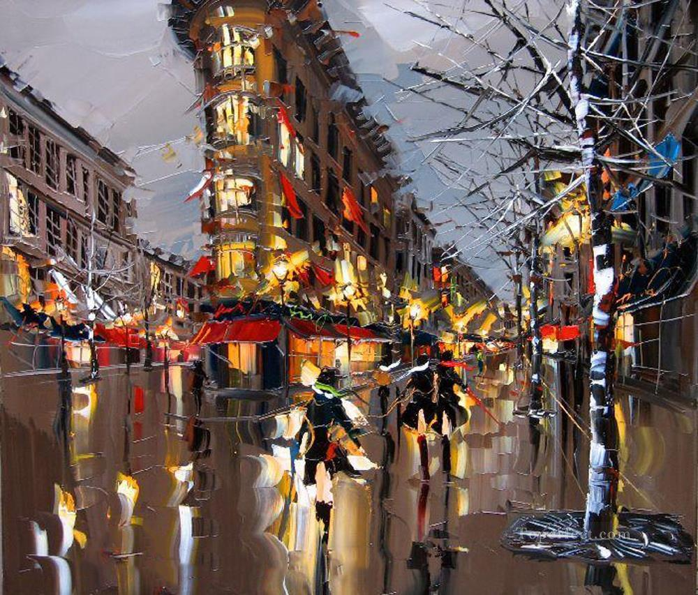 KG Paris 03 with palette knife Oil Paintings