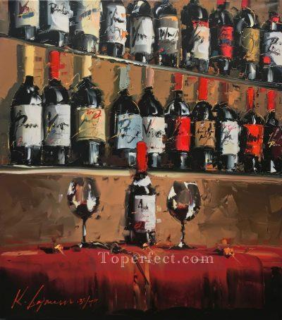 Wine Bar 1 KG by knife Oil Paintings