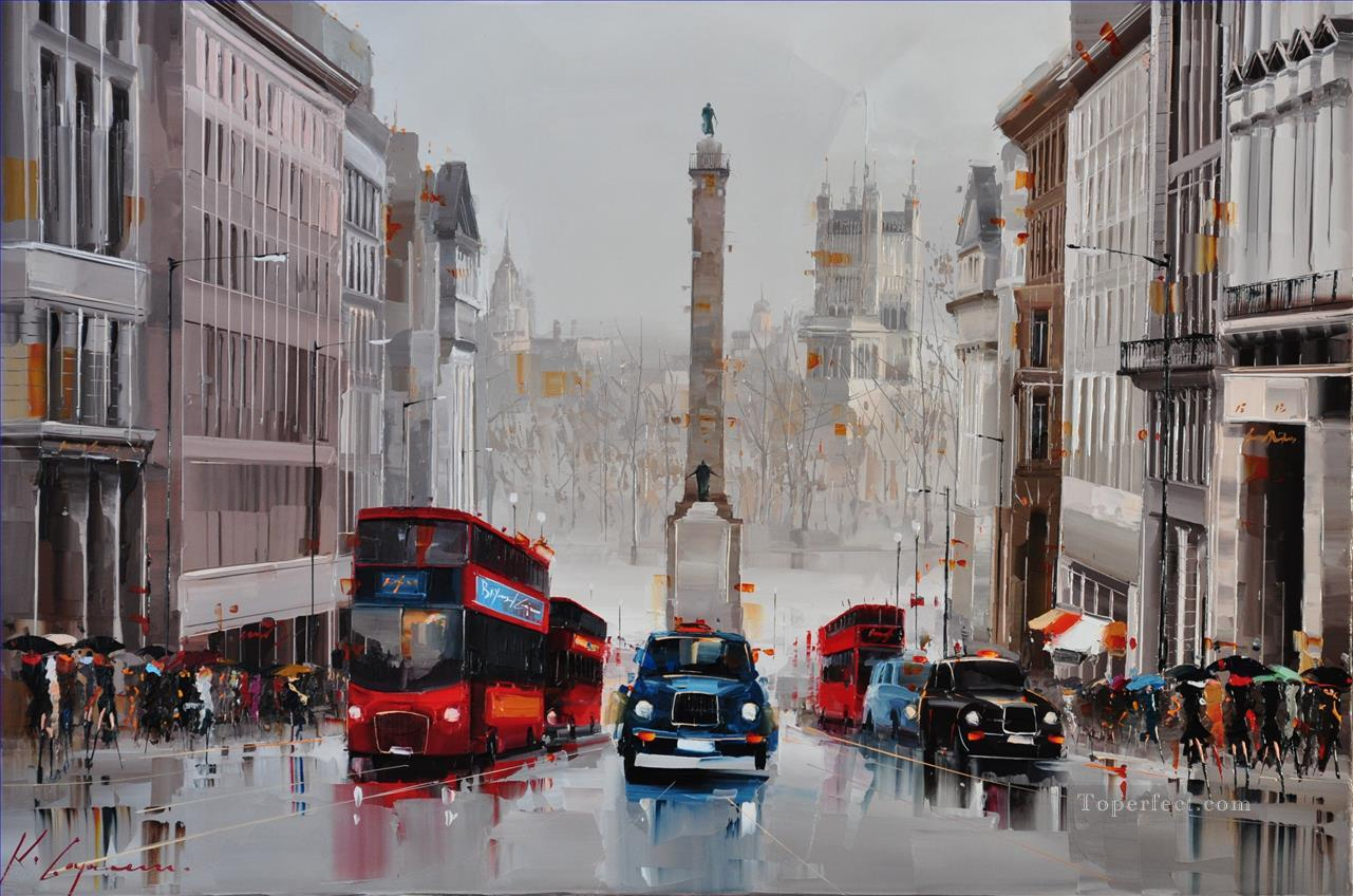 Regent St City of Westminster UK KG by knife Oil Paintings
