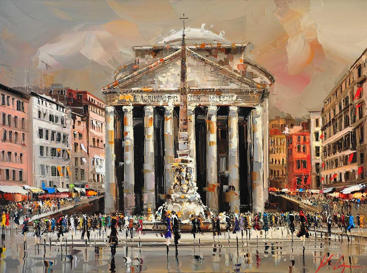 Rome KG by knife Oil Paintings