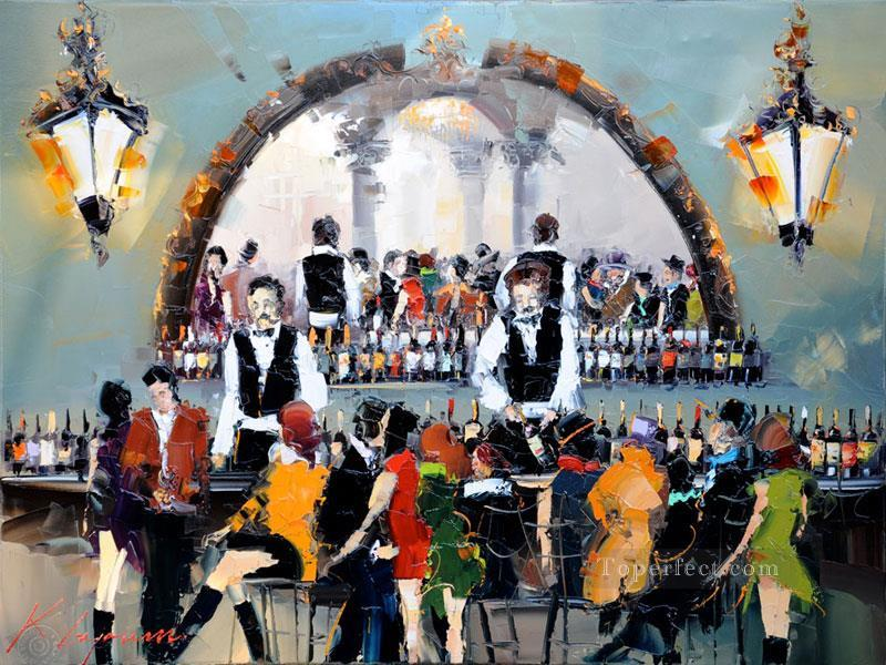 wine bar 2 KG by knife Oil Paintings