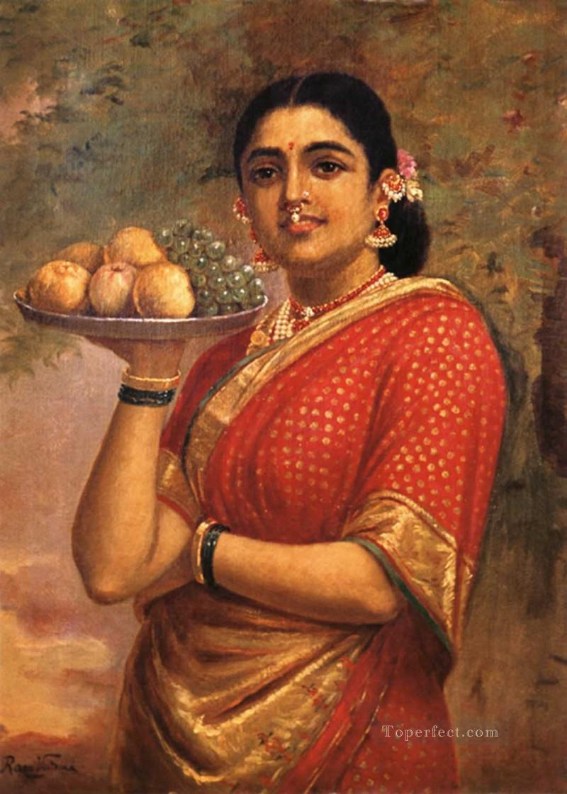 Raja Ravi Varma The Maharashtrian Lady Oil Paintings