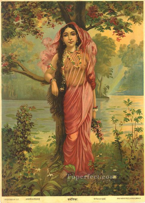 VASANTHIKA Raja Ravi Varma Indians Oil Paintings