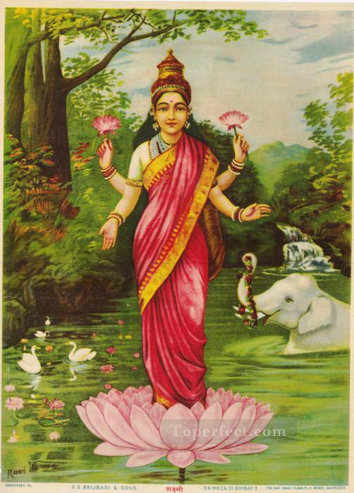 LAXMI Raja Ravi Varma Indians Oil Paintings