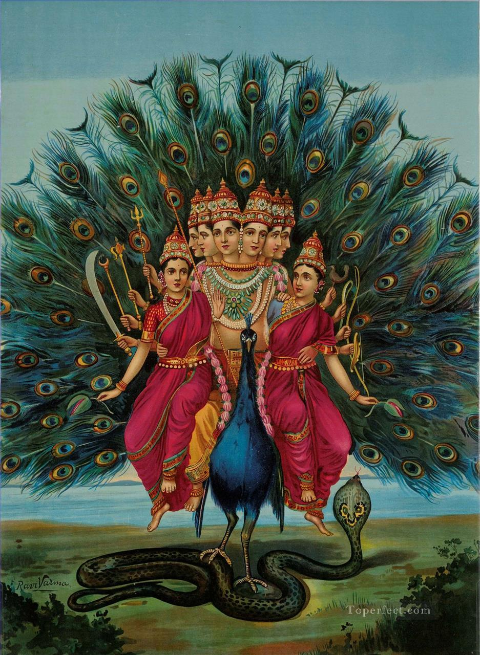 Murugan by Raja Ravi Varma Oil Paintings