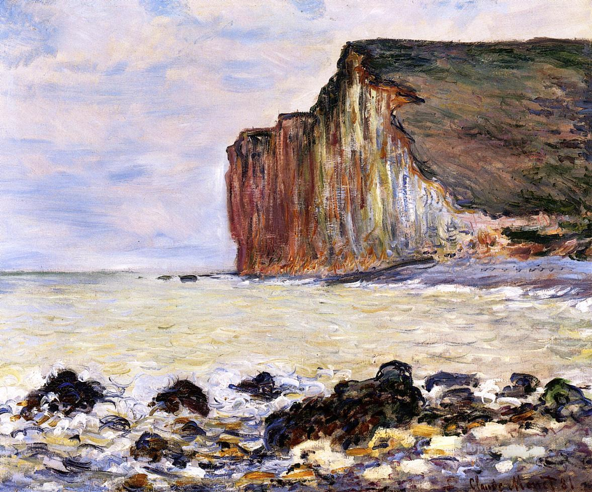 Cliffs of Les Petites Dalles Claude Monet Beach Oil Paintings