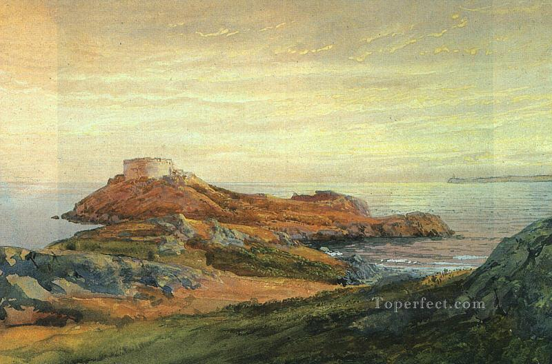 Fort Dumpling Jamestown scenery William Trost Richards Beach Oil Paintings