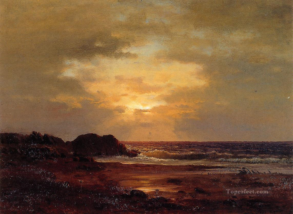 Coast Scene landscape Tonalist George Inness Beach Oil Paintings