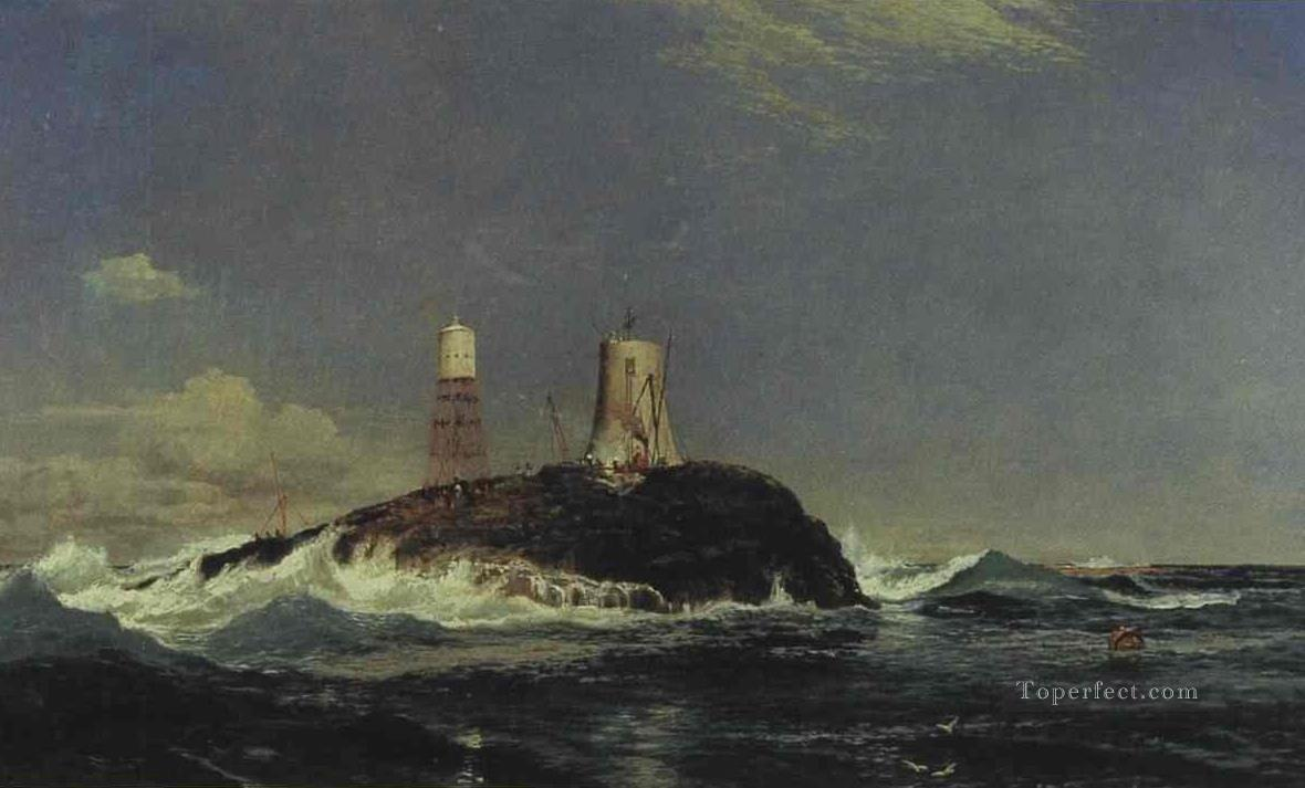 Dubh artach Dhu Heartach Lighthouse Samuel Bough beach Oil Paintings