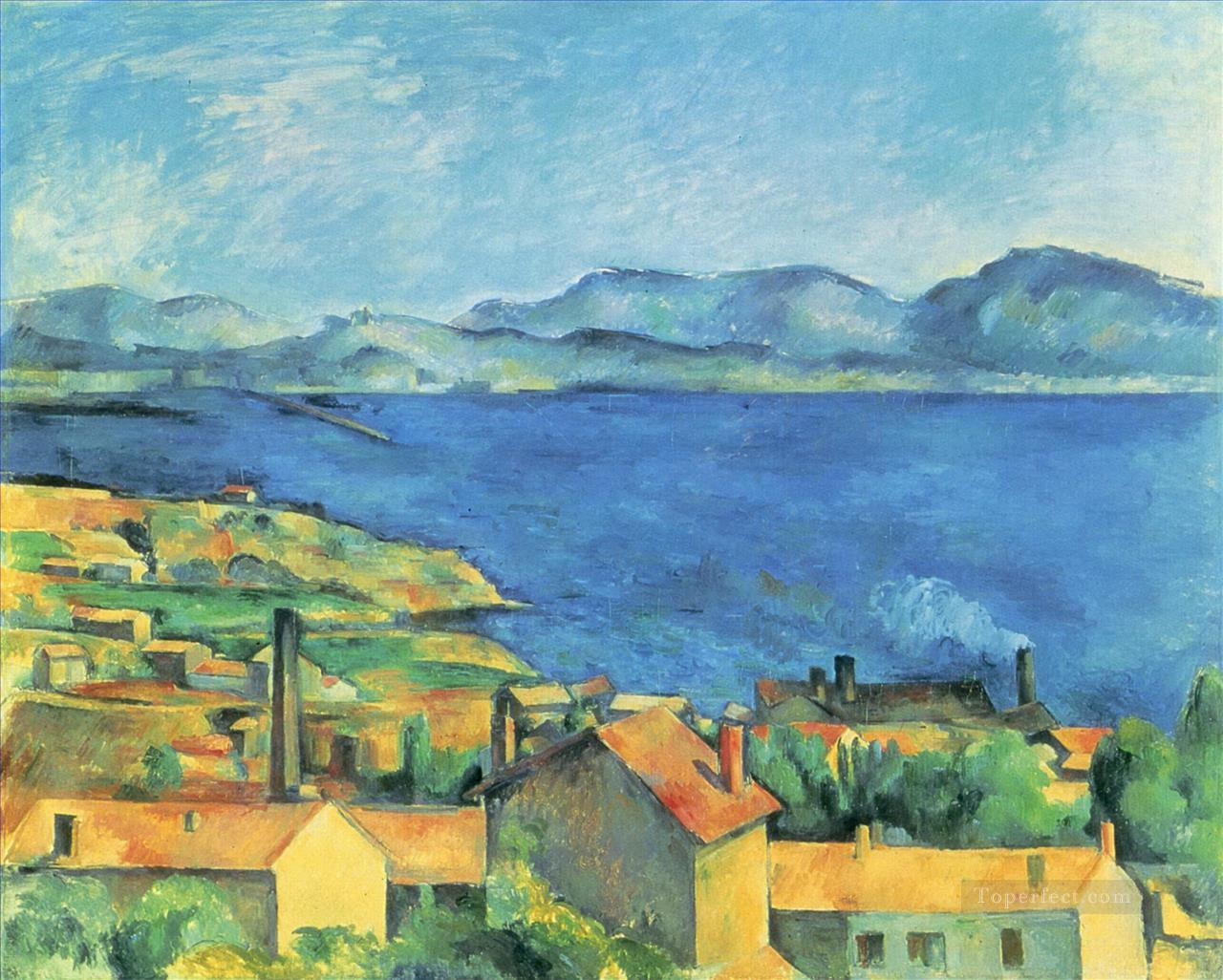 The Gulf of Marseille Seen from LEstaque 1885 Paul Cezanne Beach Oil Paintings