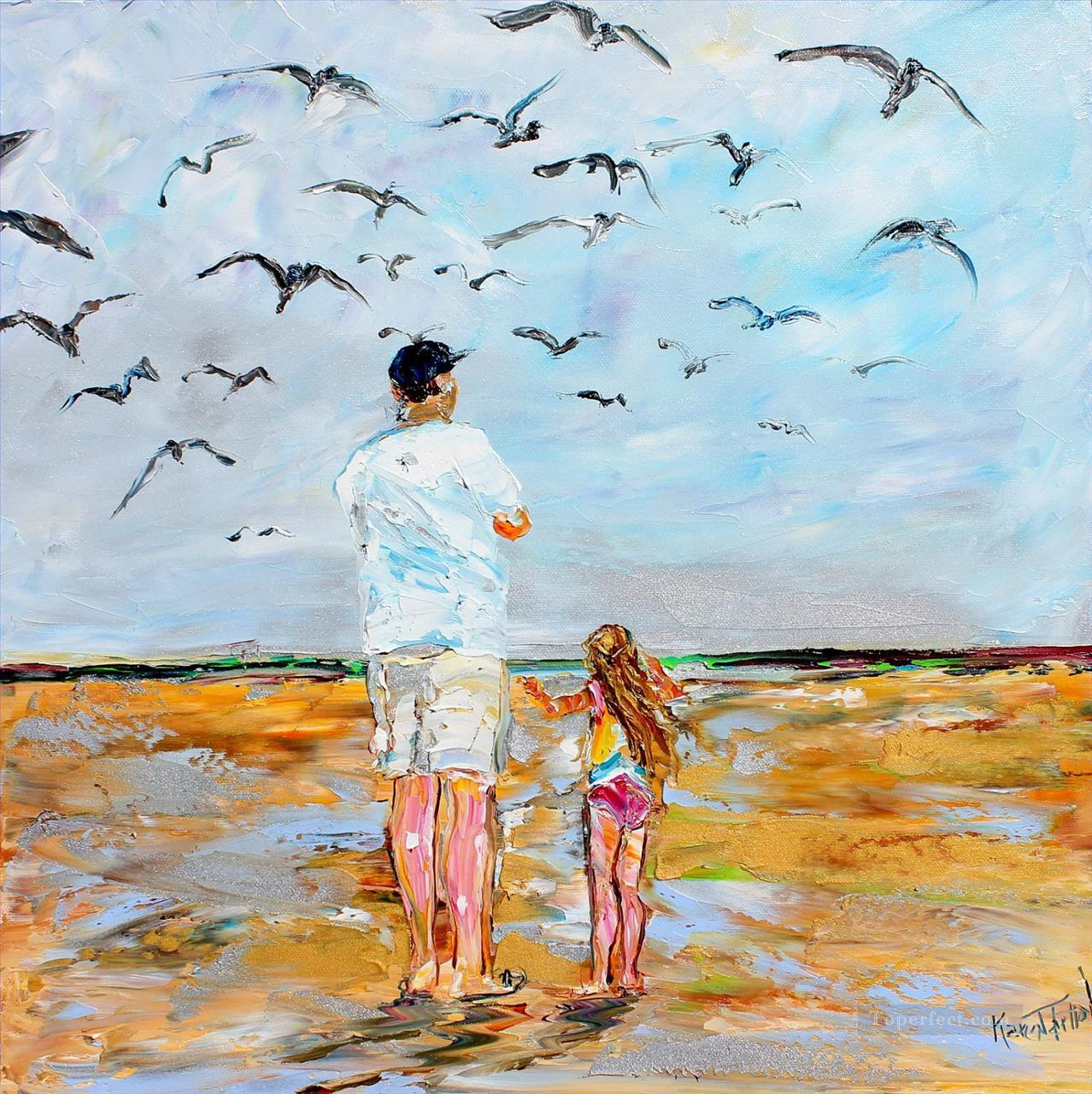 Beach Memories Oil Paintings