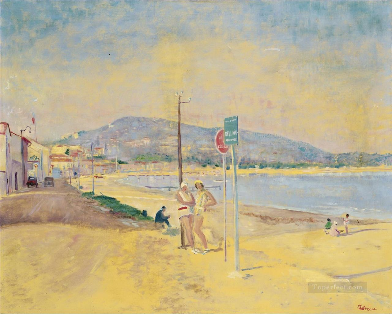 Lucien Adrion At the Beach Oil Paintings