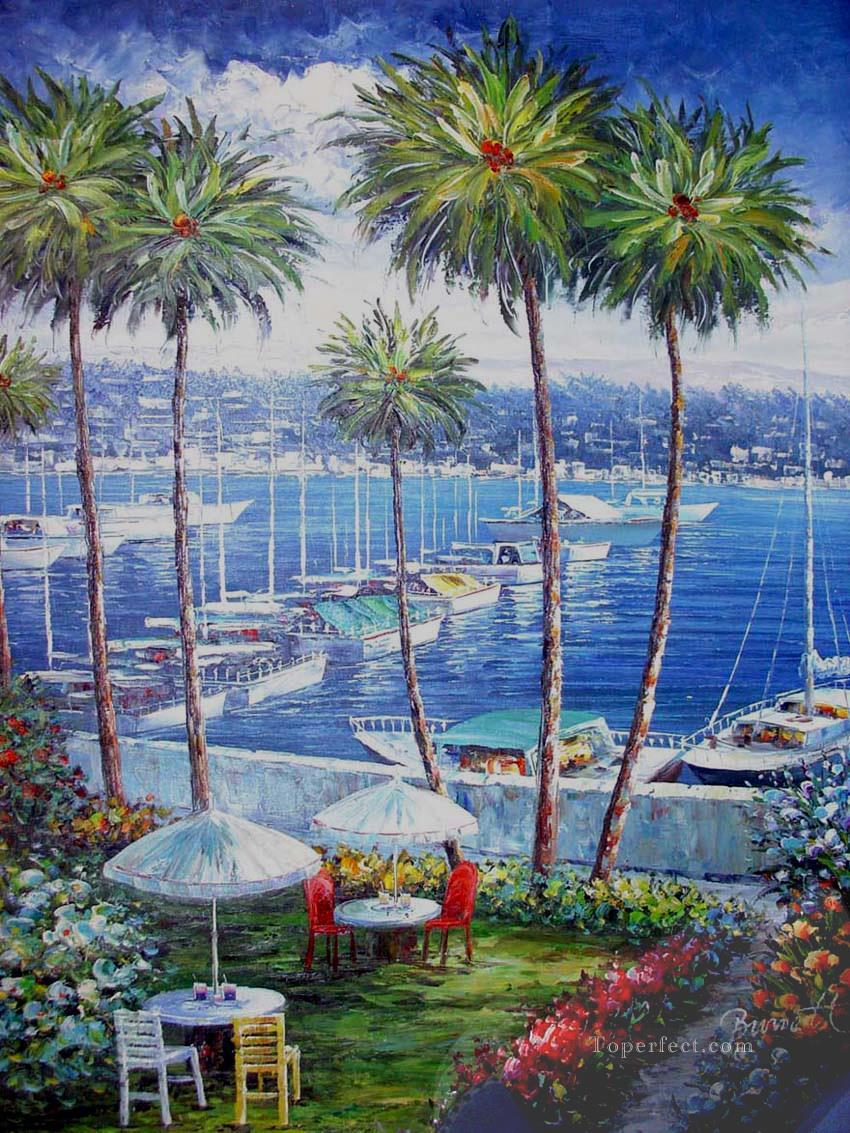 Mediterranean 27 Beach Oil Paintings
