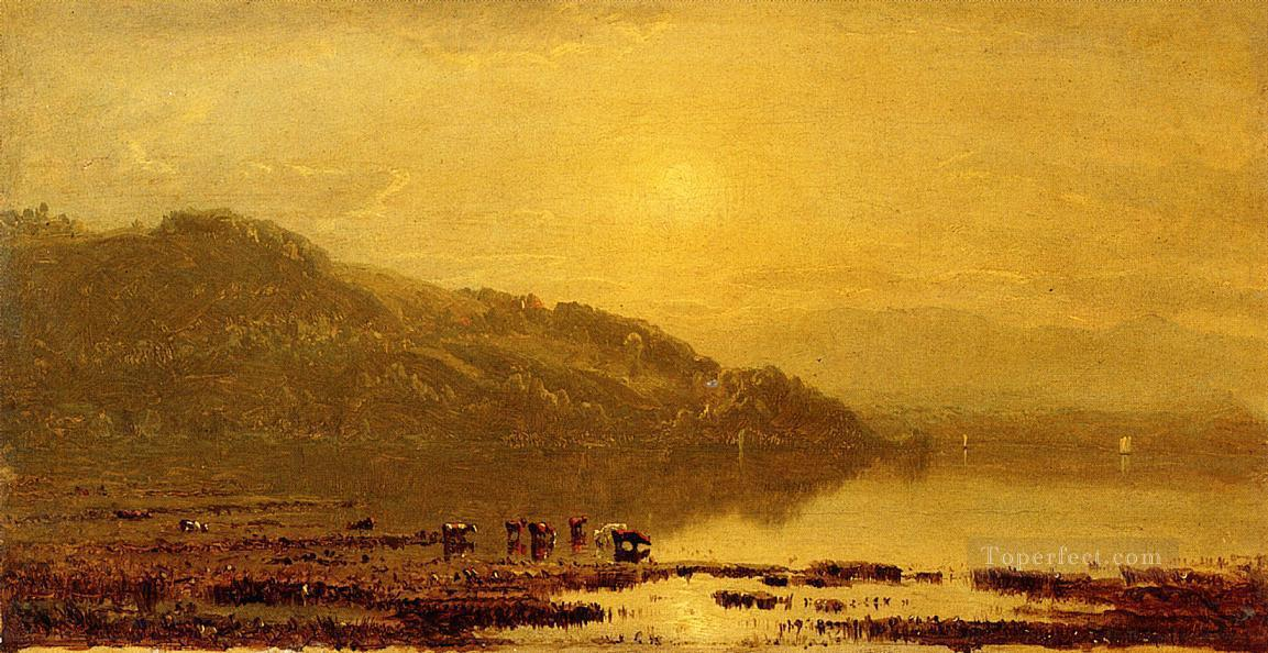 Mount Merino scenery Sanford Robinson Gifford Beach Oil Paintings