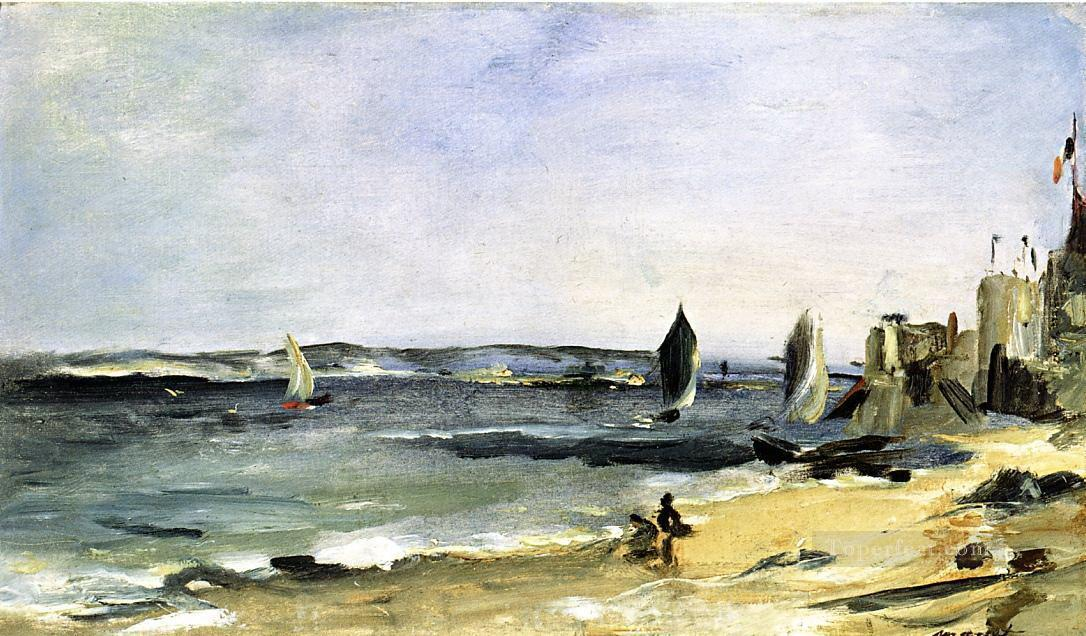 Seascape at Arcachon Eduard Manet Beach Oil Paintings