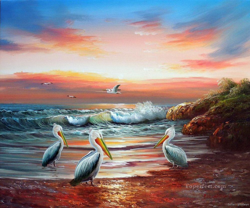 Seascape Bird Avian Oil Paintings