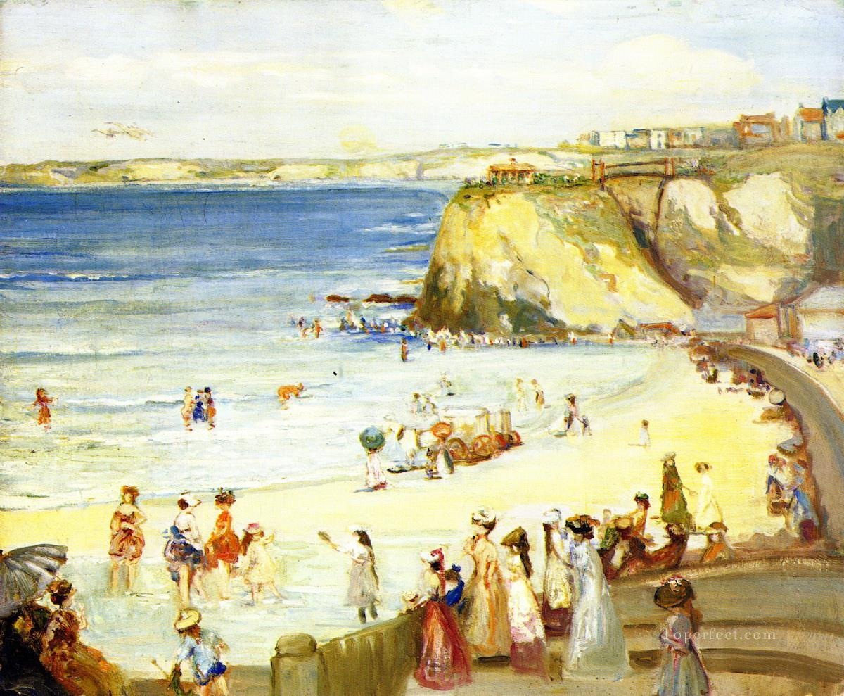 Charles Conder Newquay Town Beach Oil Paintings