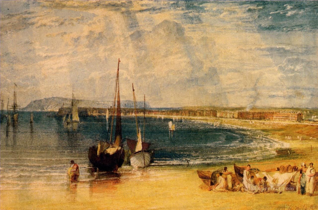 Weymouth Dorsetshire Romantic landscape Joseph Mallord William Turner Beach Oil Paintings