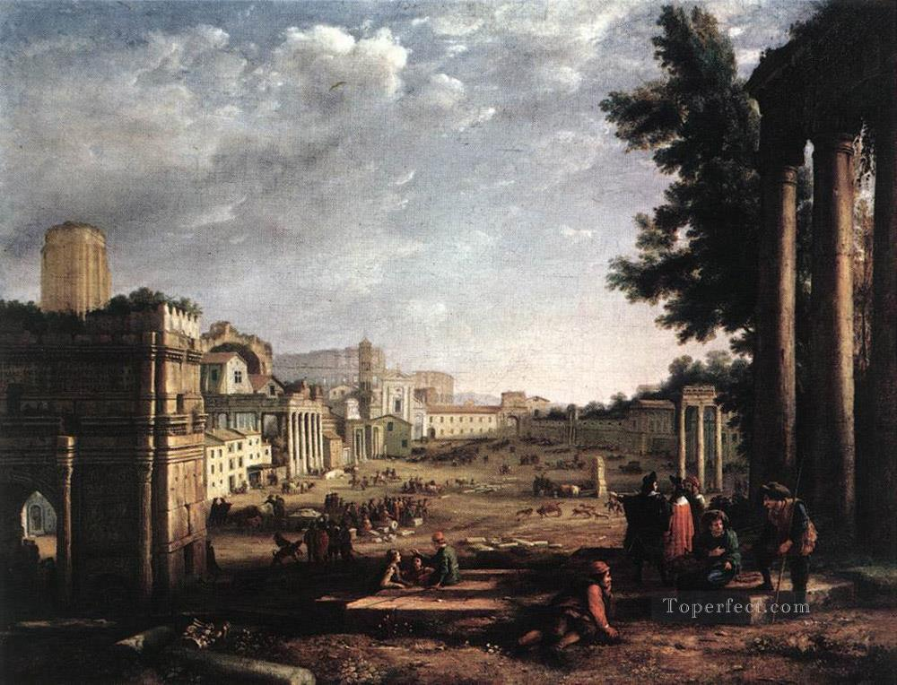 The Campo Vaccino Rome landscape Claude Lorrain Beach Oil Paintings