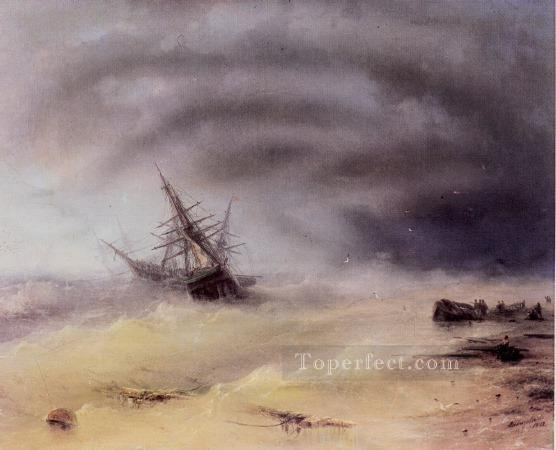 storm 1872IBI seascape boat Ivan Aivazovsky Oil Paintings