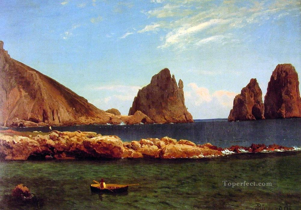Capri Albert Bierstadt Landscapes river Oil Paintings