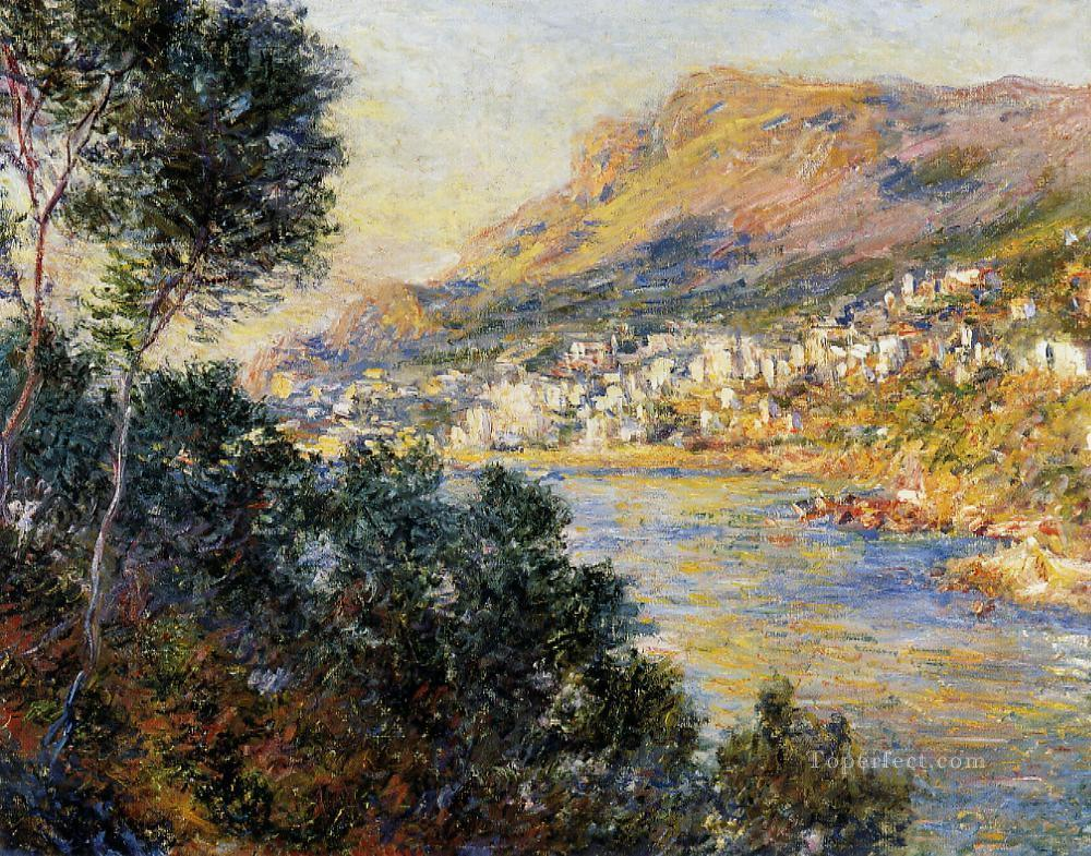 Monte Carlo Seen from Roquebrune Claude Monet Landscapes river Oil Paintings