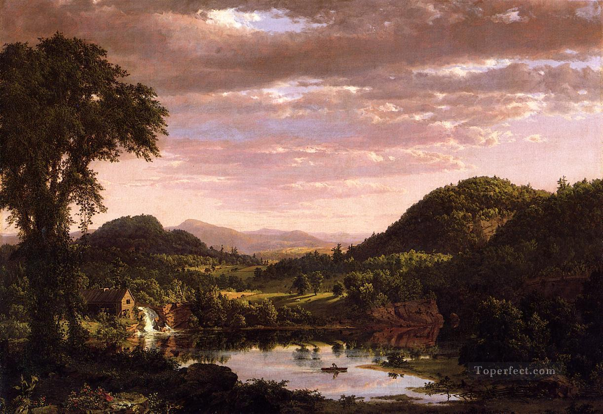 New England Landscape aka Evening after a Storm scenery Hudson River Frederic Edwin Church Oil Paintings