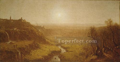 Tivoli scenery Sanford Robinson Gifford Landscapes river Oil Paintings