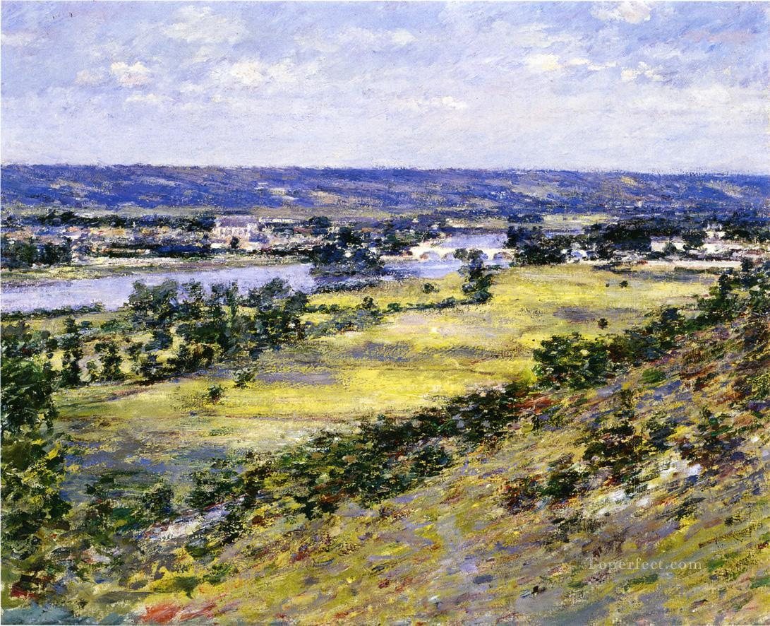 Valley of the Seine from Giverny Heights impressionism landscape Theodore Robinson Landscapes river Oil Paintings