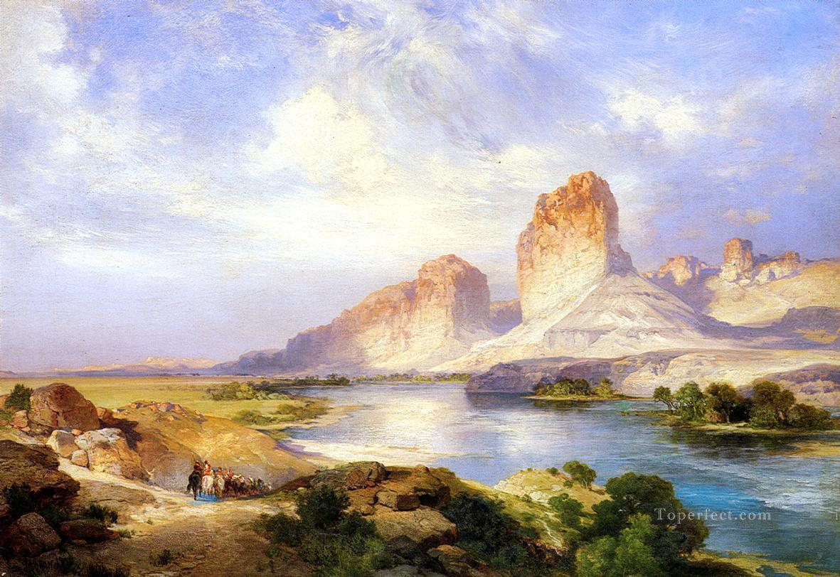 Green River Wyoming landscape Rocky Mountains School Thomas Moran Oil Paintings