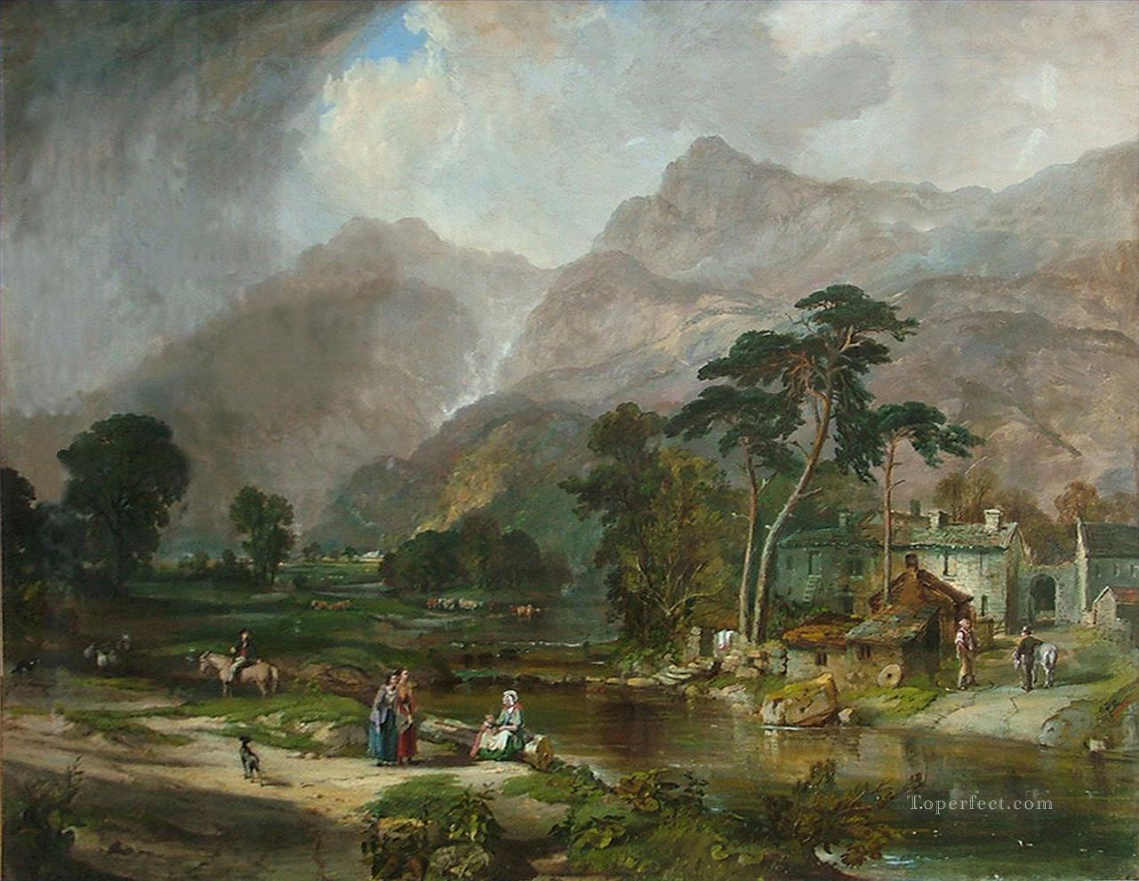 Borrowdale Samuel Bough river landscape Oil Paintings