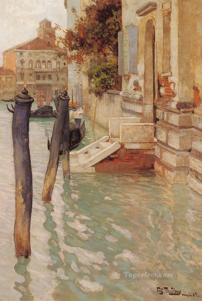 On The Grand Canal impressionism Norwegian landscape Frits Thaulow Venice Oil Paintings