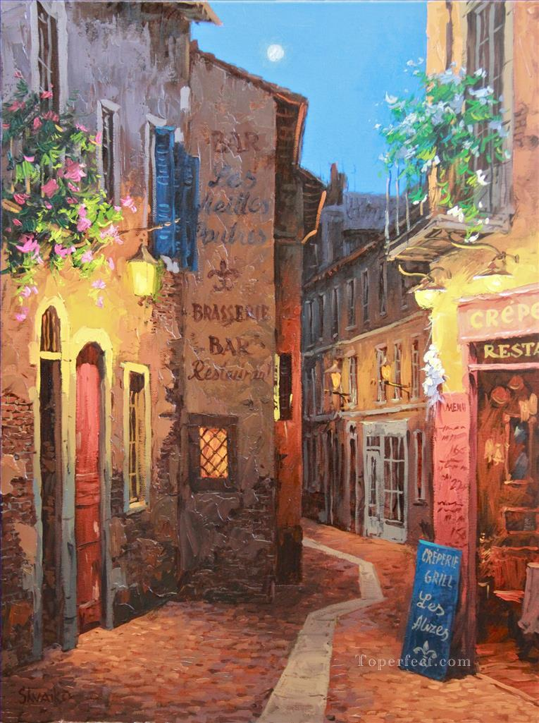 UX010 European Towns Oil Paintings