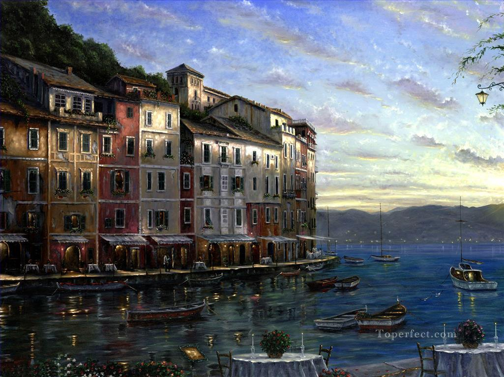 Portofino cityscapes Oil Paintings
