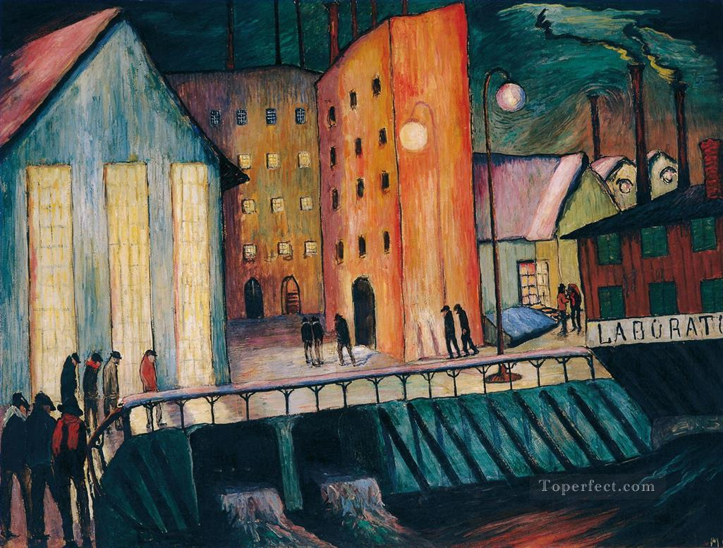 city views Marianne von Werefkin cityscape city scenes Oil Paintings