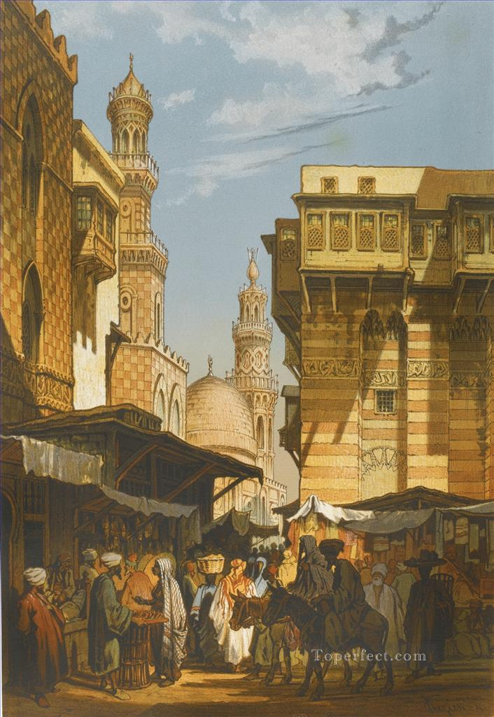 SOUVENIR DU CAIRE PARIS LEMERCIER 1862 Amadeo Preziosi Neoclassicism Romanticism city Oil Paintings
