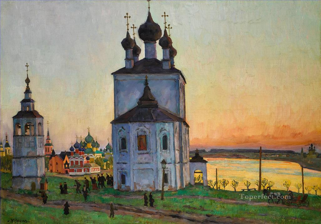 THE ANCIENT TOWN OF UGLICH Konstantin Yuon cityscape city scenes Oil Paintings