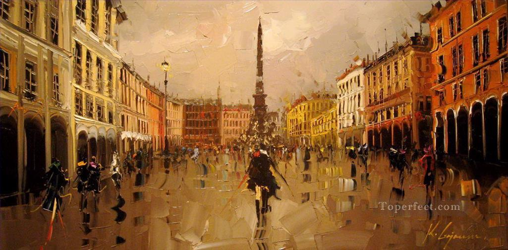 KG Piazza Narvona cityscapes Oil Paintings