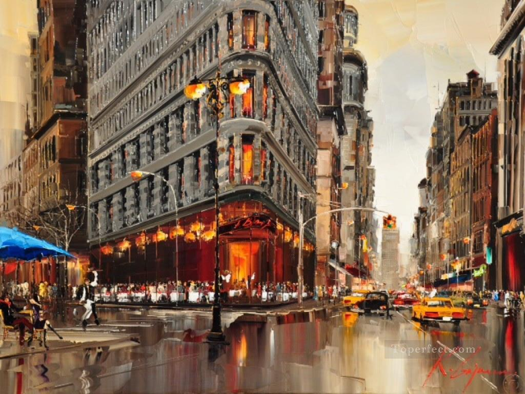 new york kg cityscapes painting in oil for sale. Black Bedroom Furniture Sets. Home Design Ideas
