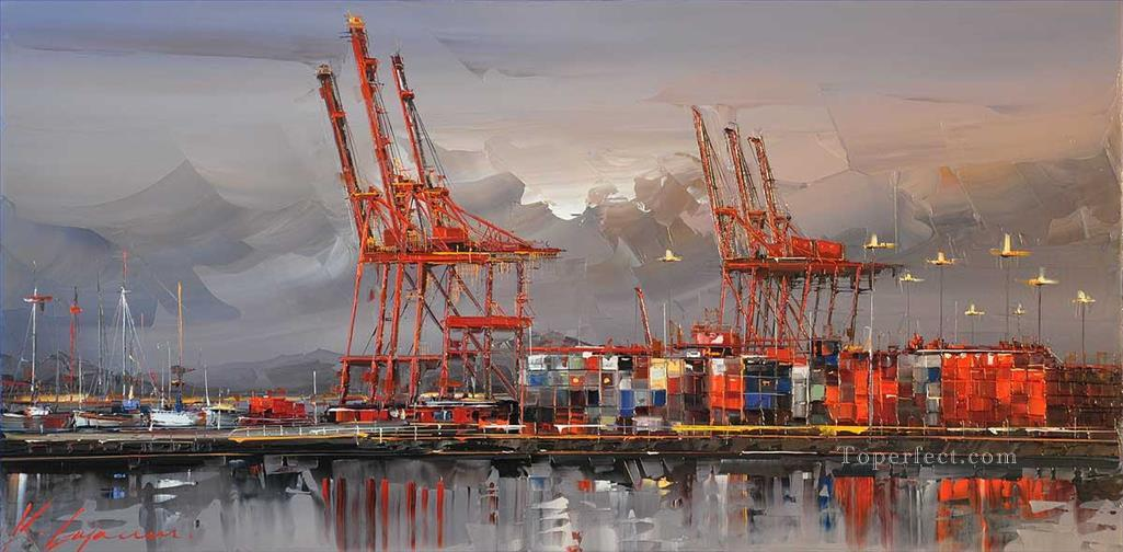 VANCOUVER 2 city KG Oil Paintings