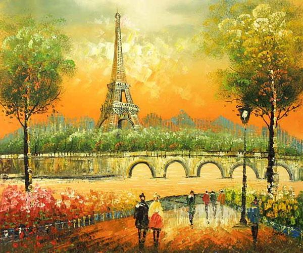 PARIS EIFFEL tower freehand Painting in Oil for Sale  Eiffel Tower Painting Landscape