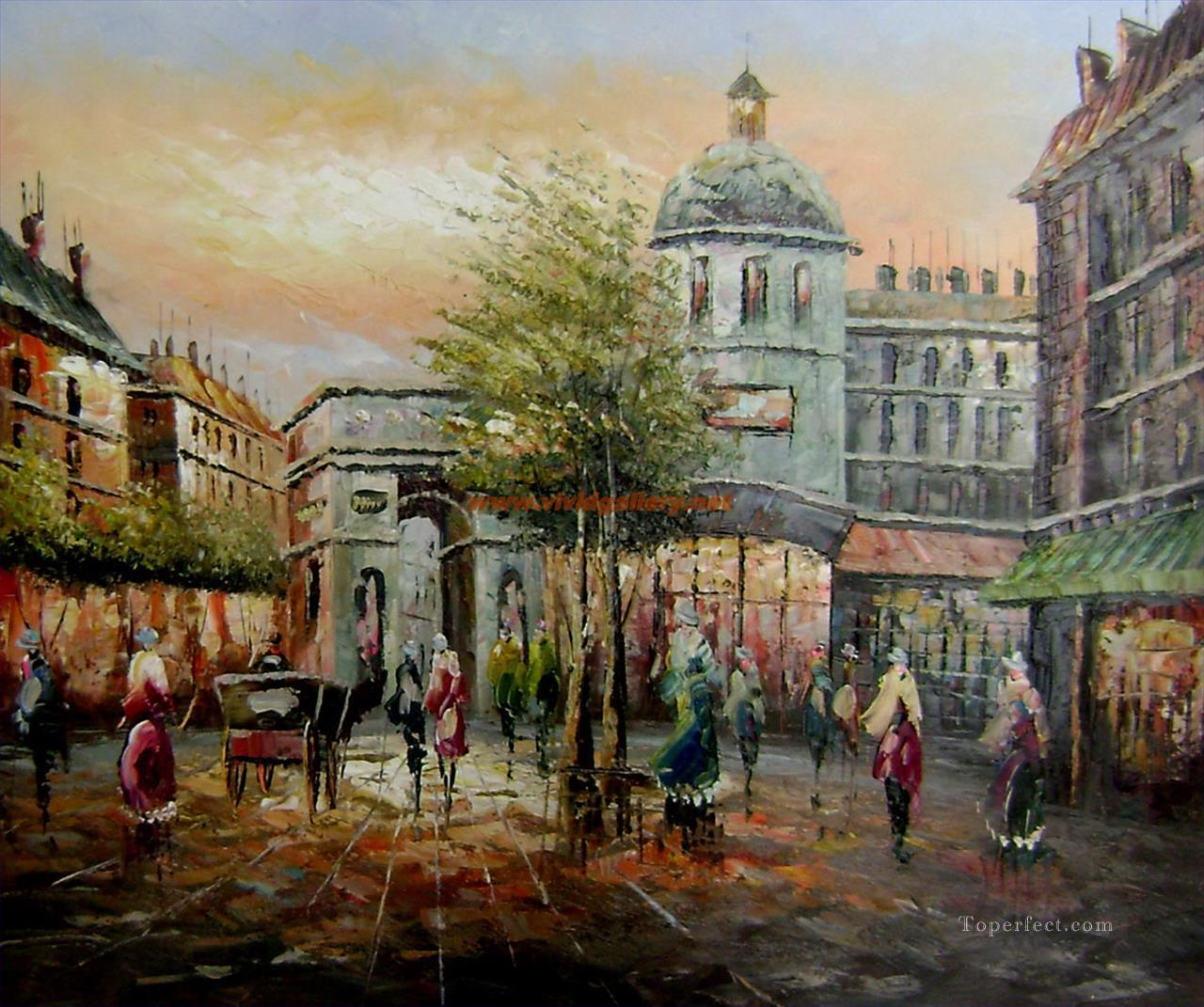 Impressionism Paris: St098B Impressionism Paris Scenes Painting In Oil For Sale