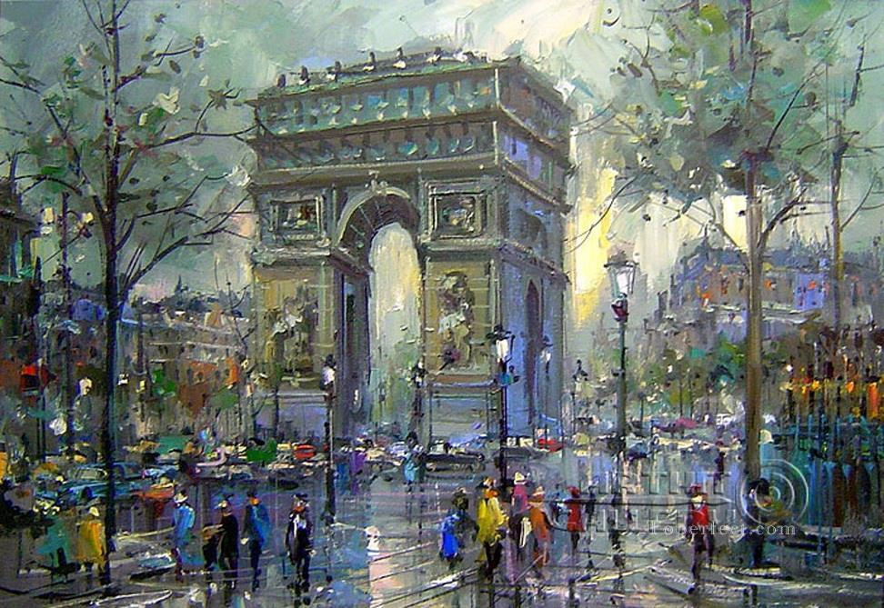 st059B impressionism Parisian scenes Oil Paintings